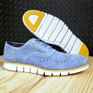 COLE HAAN Zerogrand Wingtip Oxfords Baby Blue :980